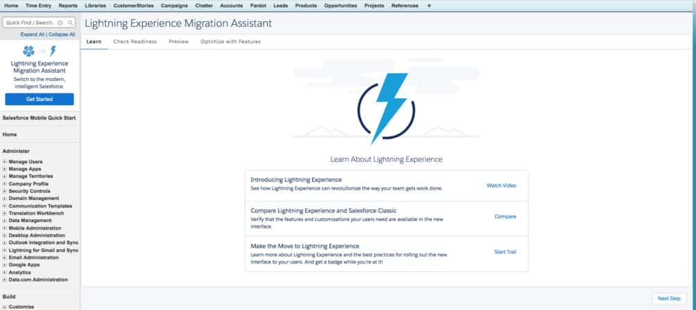 Salesforce Lightning Readiness
