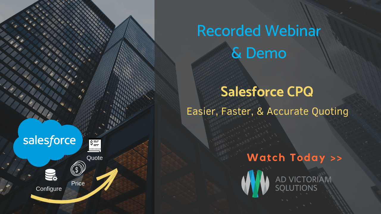 Salesforce CPQ Webinar and Live Demo