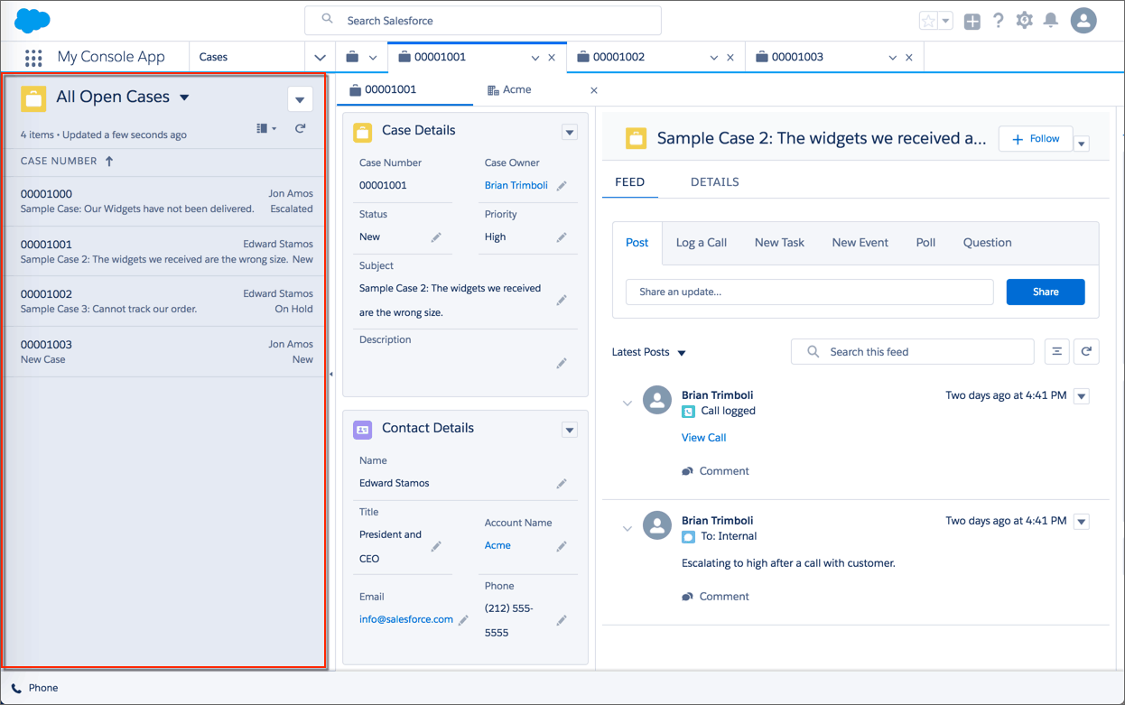 Salesforce Lightning Split View