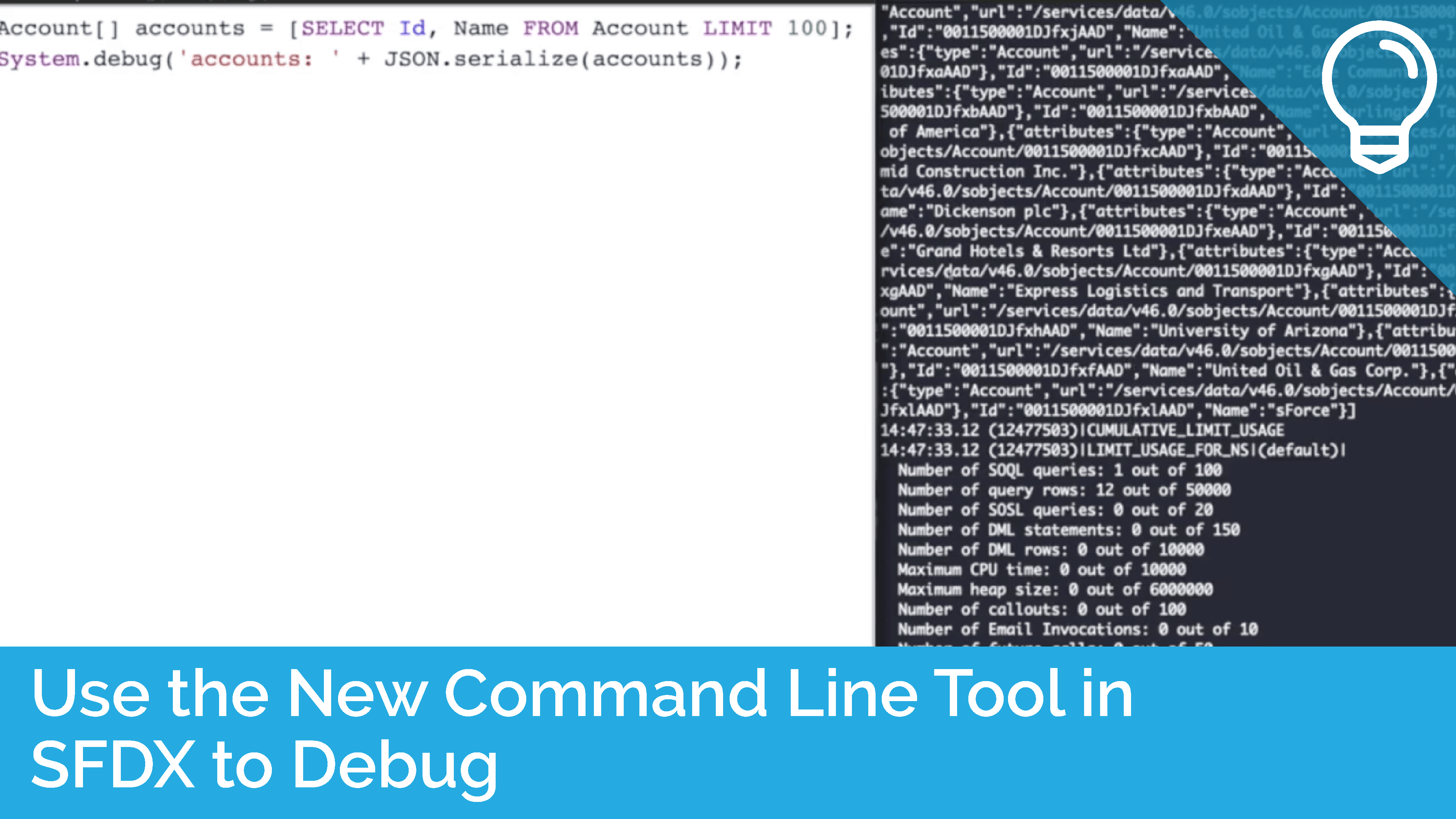 Use the New Command Line Tool in SFDX to Debug