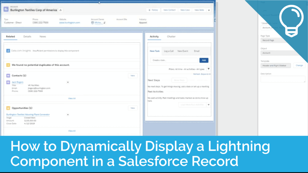 How to Dynamically Display a Lightning Component on a Salesforce Record