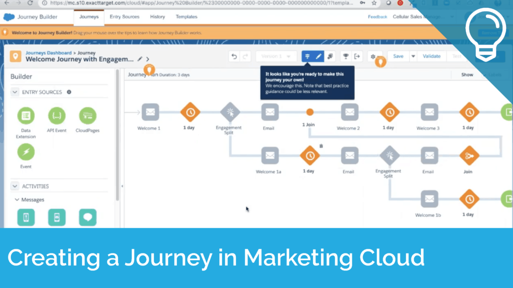 Creating a Journey from a Template in Marketing Cloud