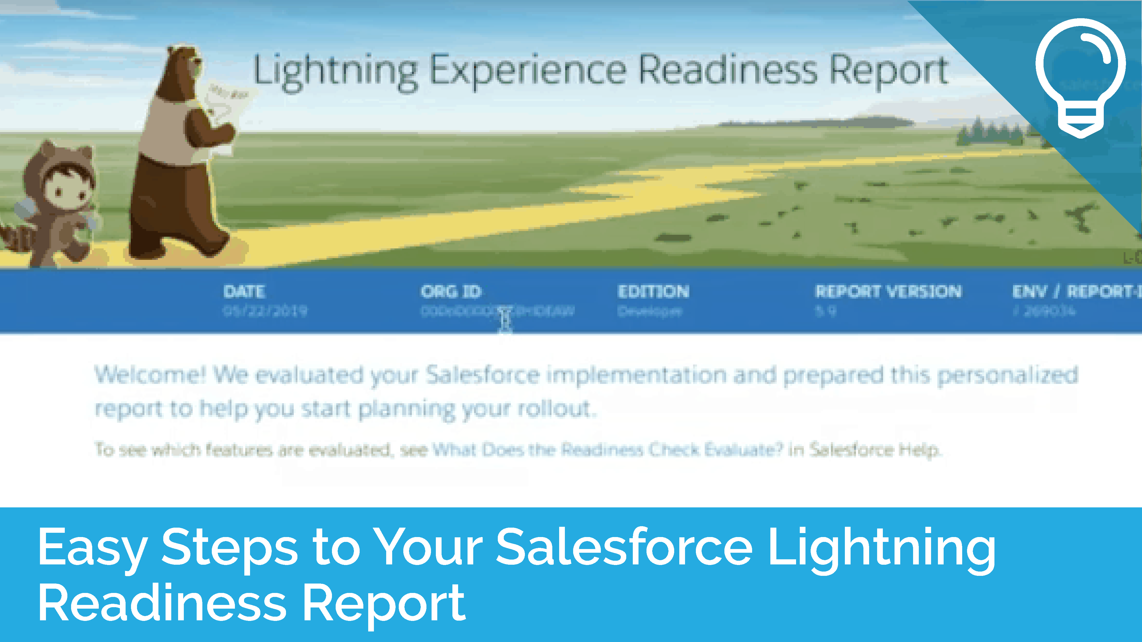 Easy Steps to Your Salesforce Lightning Readiness Report