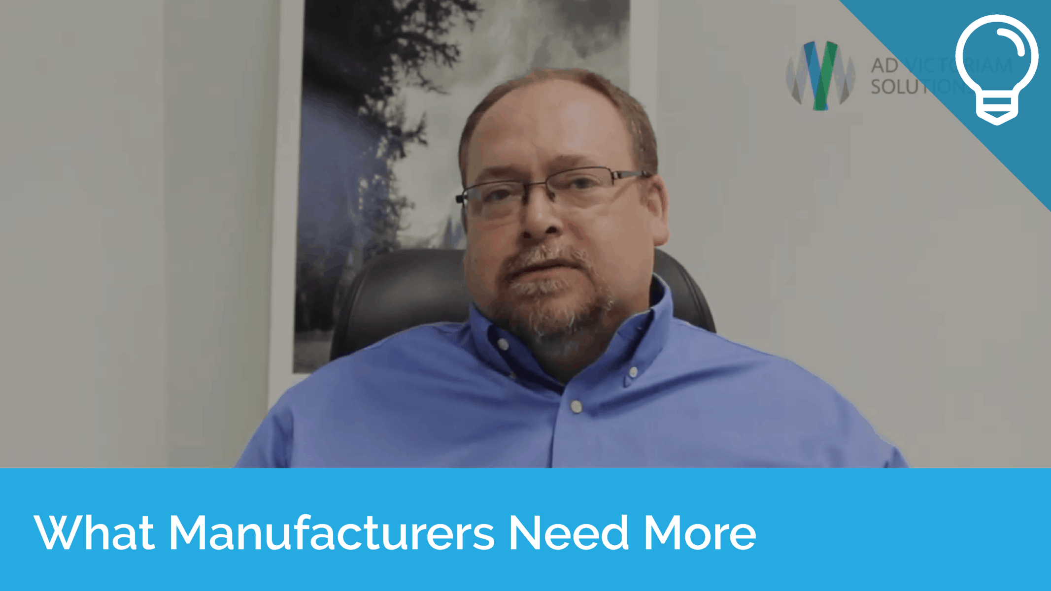 What Manufacturers Need More