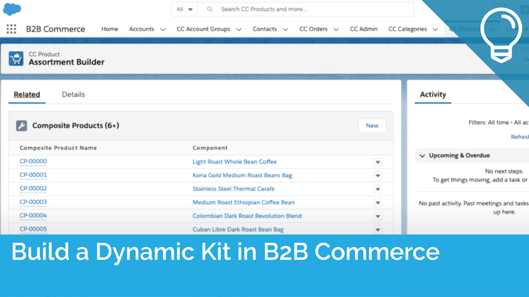 Build a Dynamic Kit in B2B Commerce