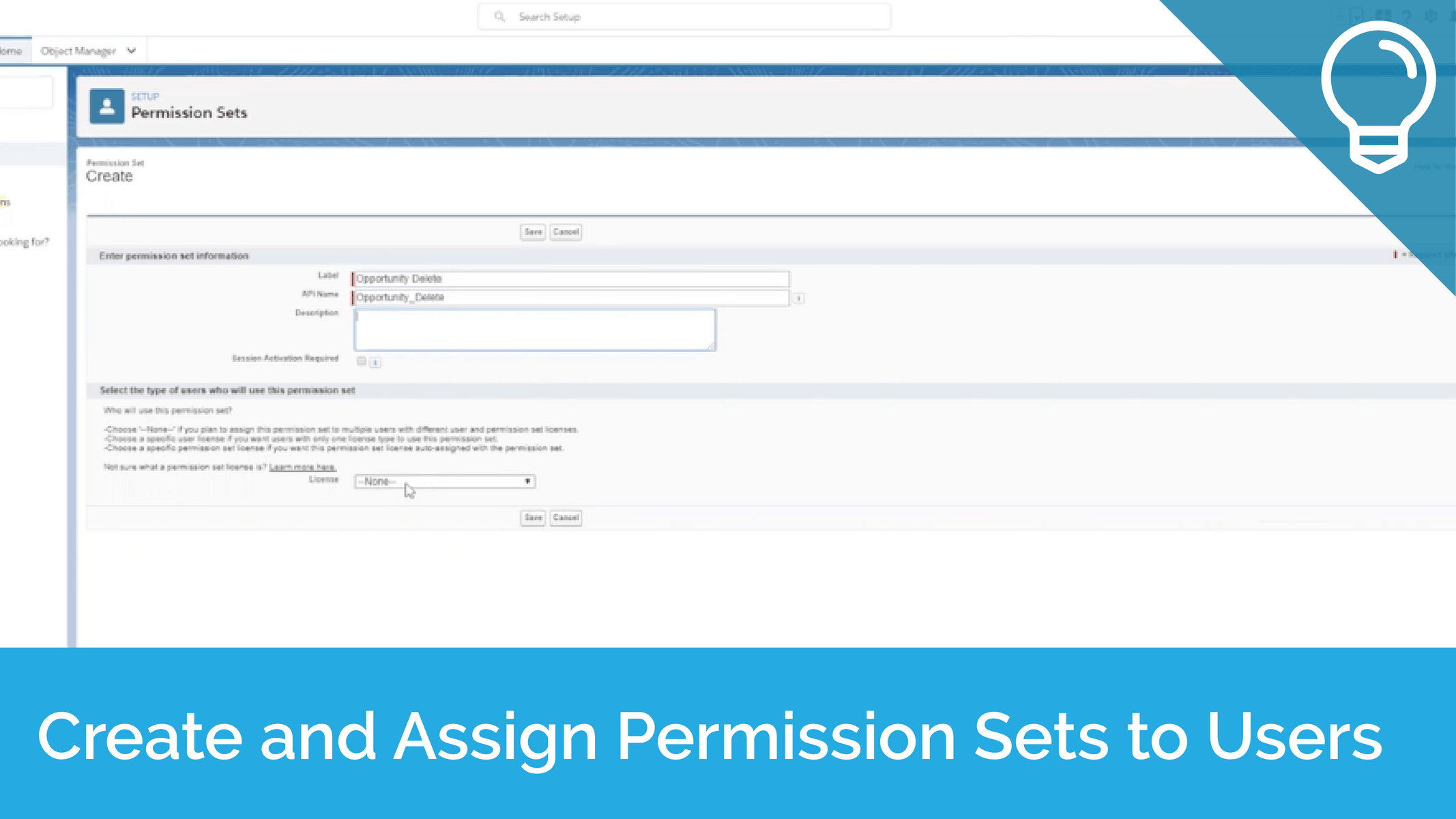 Create and Assign Permission Sets to Users Tip