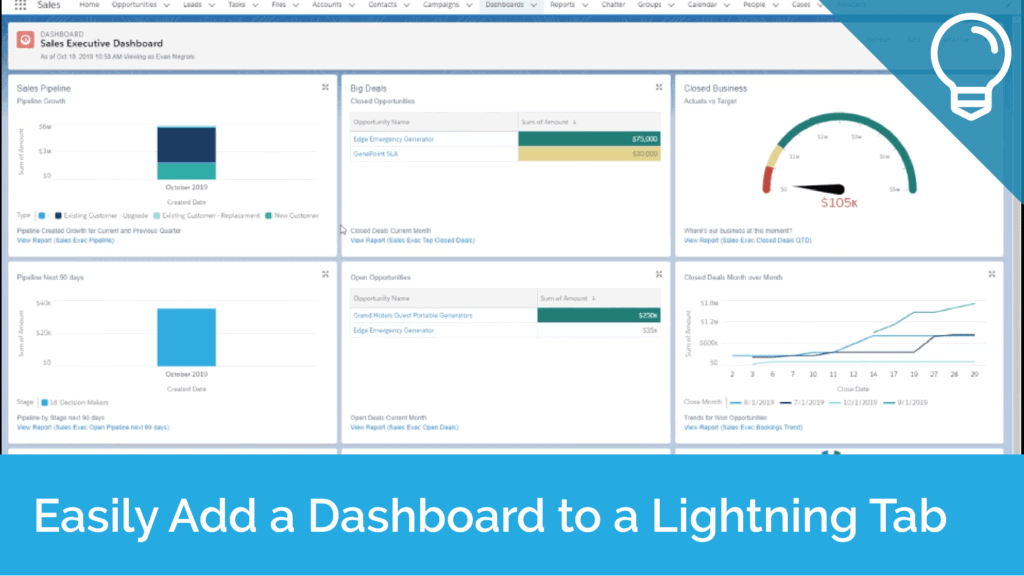Easily Add a Dashboard to Lightning Tab