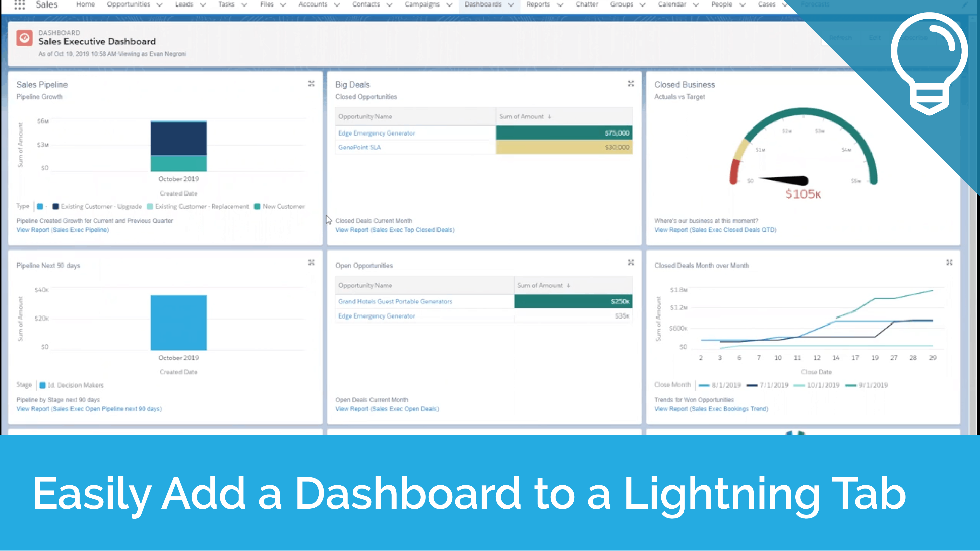Easily Add a Dashboard to a Lightning Tab Tip