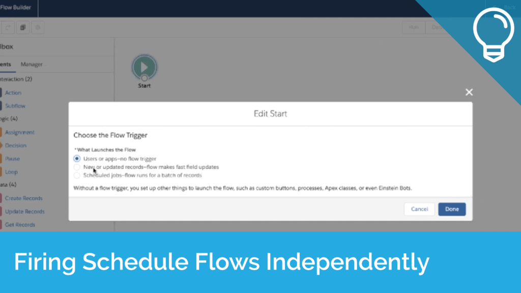 Firing Schedule Flows Independently