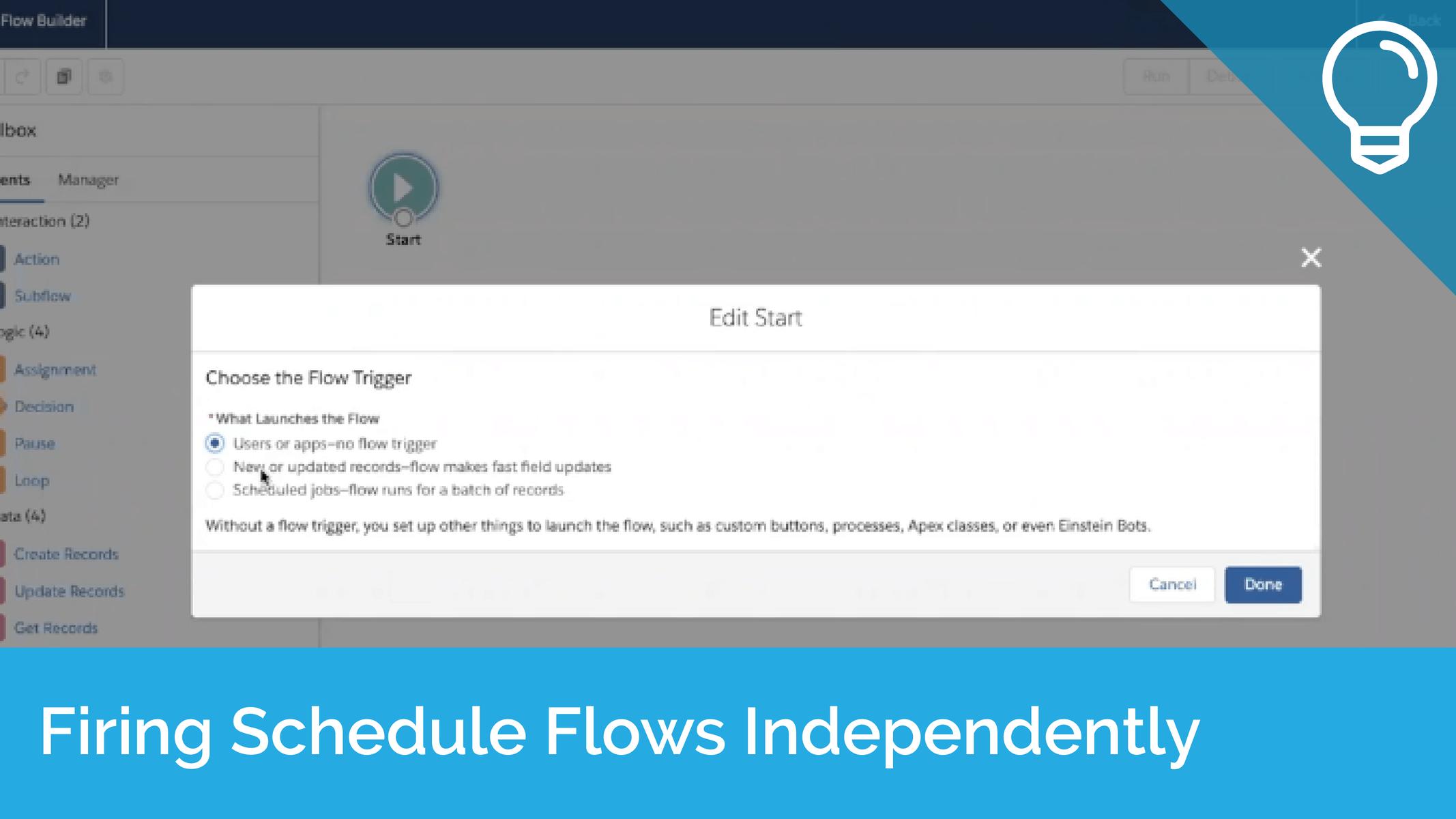 Firing Schedule Flows Independently Tip