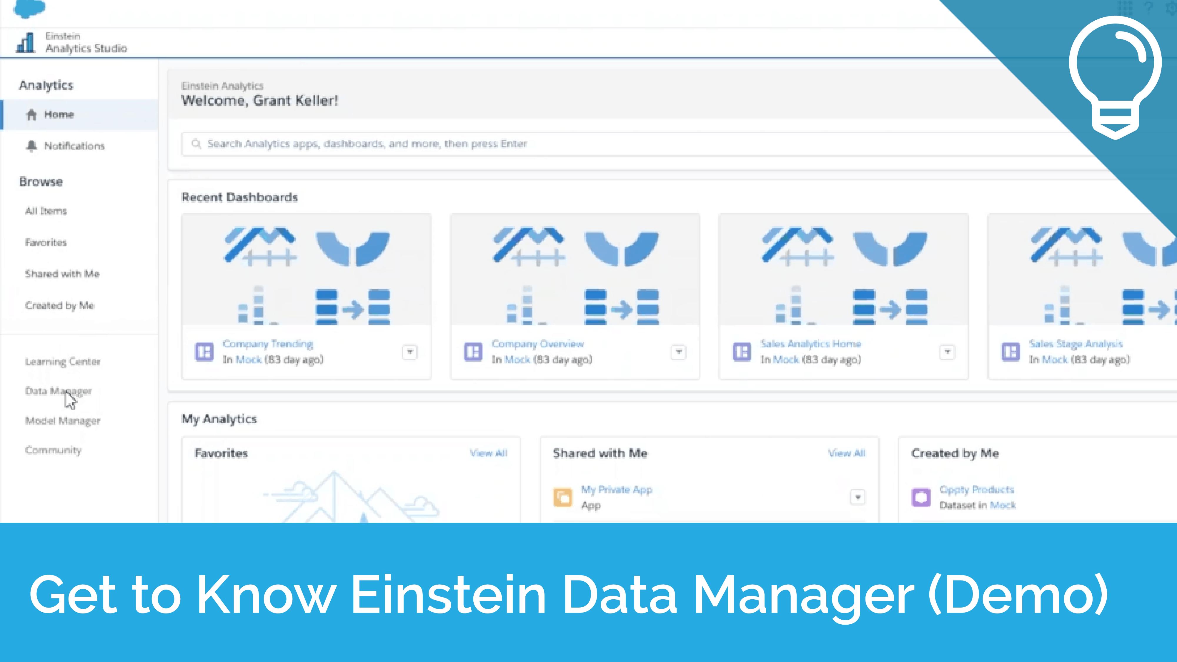 Get to Know Einstein Data Manager - Demo - Tip