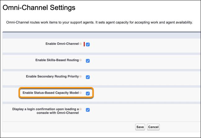 Omni-Channel Setting - Salesforce 2020 Summer Release