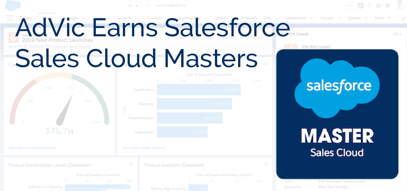 AdVic Earns Salesforce Sales Cloud Masters