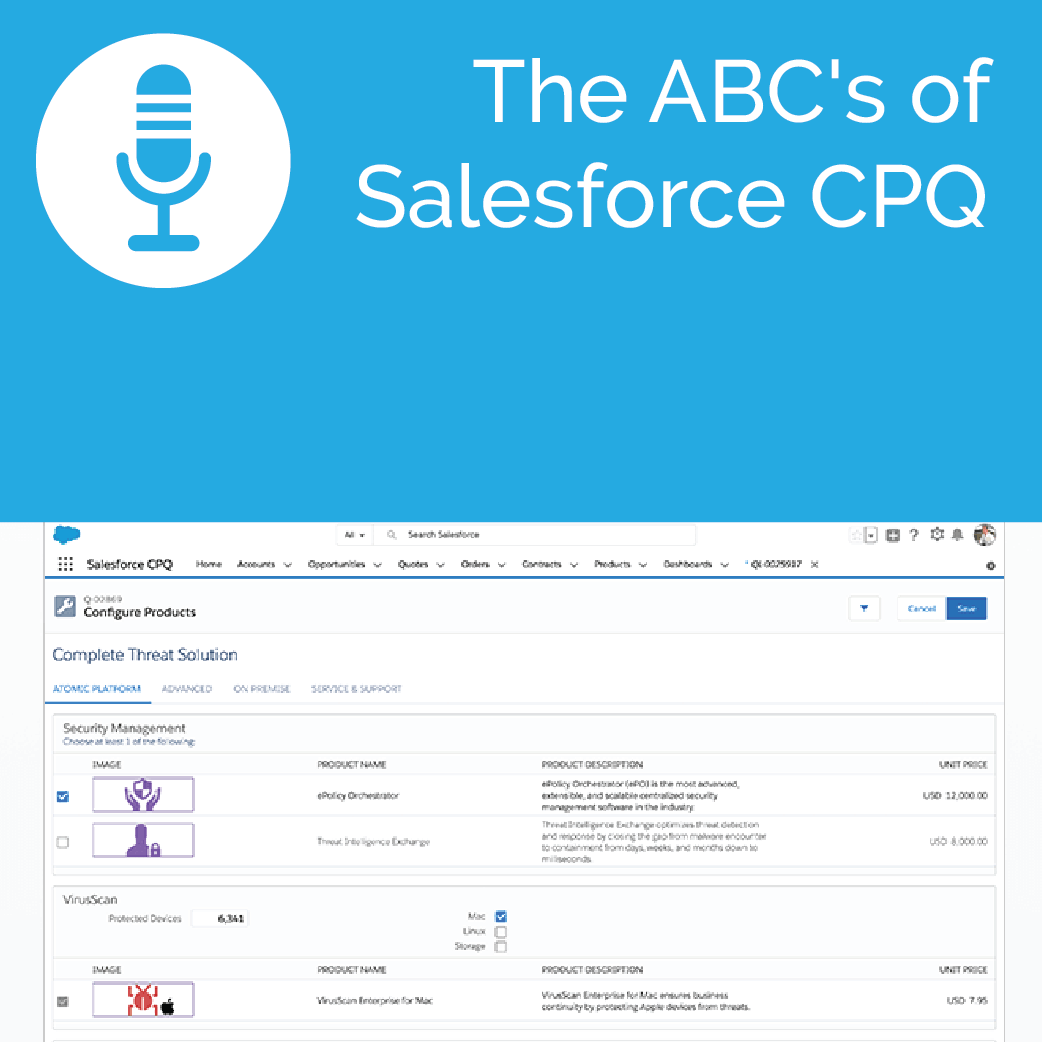 The ABC's of Salesforce CPQ Podcast