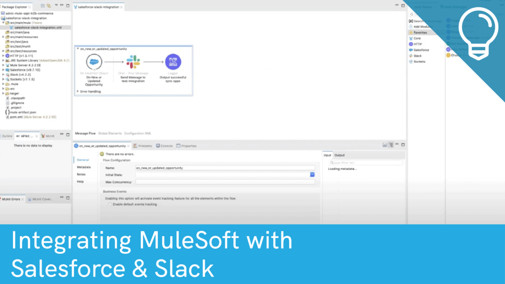 Integrating MuleSoft with Salesforce and Slack