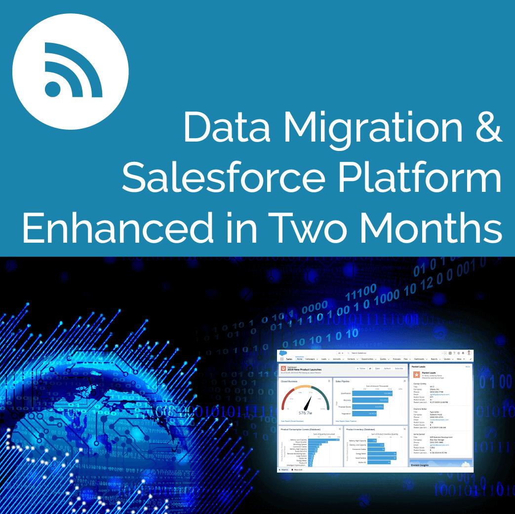 Data Migration & Salesforce Platform Enhanced in Two Months