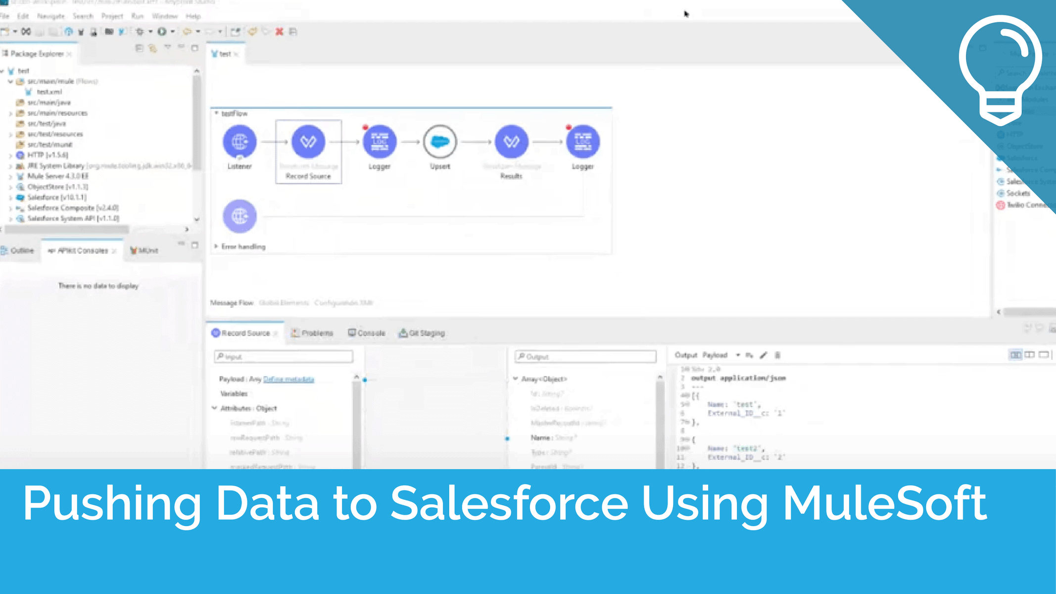 Pushing Data to Salesforce Using MuleSoft Connector