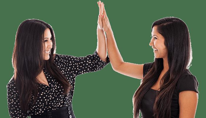 Women Giving a High Five