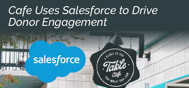Cafe Uses Salesforce to Drive Donor Engagement